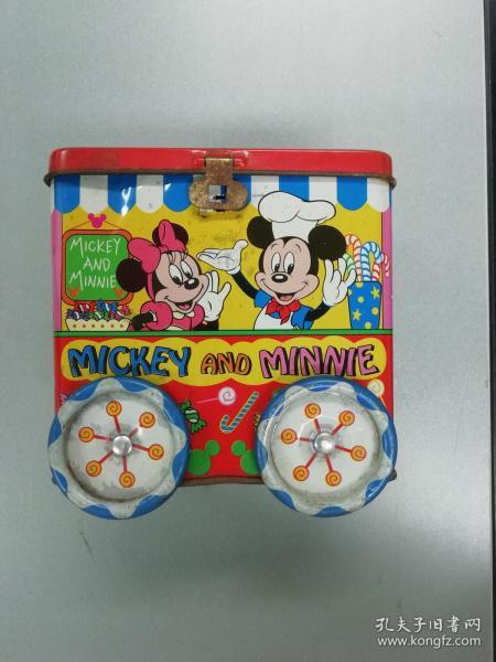 Disney mickey mouse tin toy car piggy bank