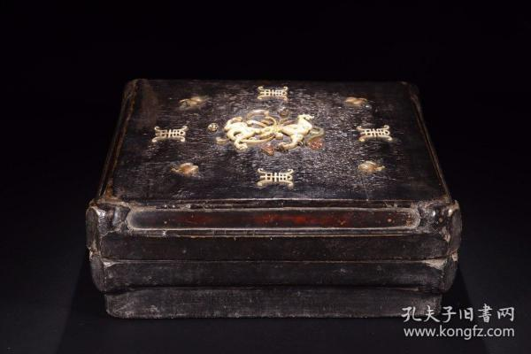Qing Dynasty: Large Lacquered Shoushan Stone Dragon Cover Box