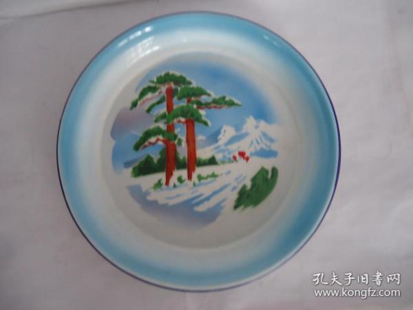 Cultural Revolution Enamel Plate
