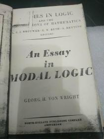 《an essay in modal logic。studies in logic and the foundations of mathematics》模态逻辑论文 。逻辑学与数学基础。