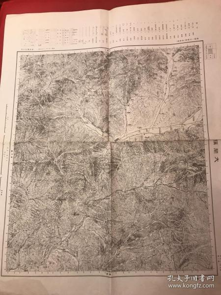 Map of Dago Town, Regga Province, during the Japanese invasion. Manchuria 100,000 points one map Xuanhua No. 7 Ministry of Public Security Kant issued in June of the next year.