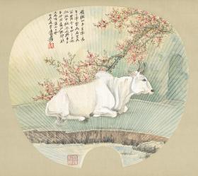 Zhang Daqian_Tianzhu Covered Bull_Paper_HD Micro Spray Replica
