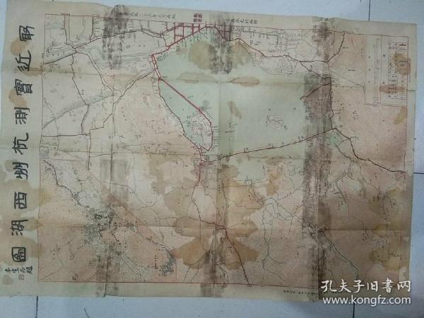 Recently measured Hangzhou West Lake map [Reprinted in March 23rd Republic, 2 sets of color printing]