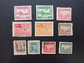 10 stamps sold in the liberation period