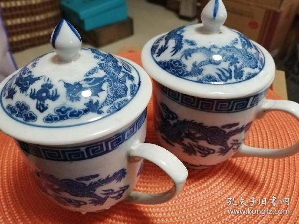 Blue and white porcelain old tea cup
