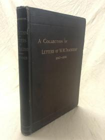 萨克雷书信集 :A collections of letters of W.M.Thackeray