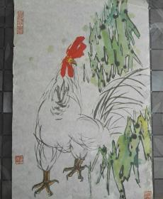 Old woodblock watermark painting, master Cheng Faguang's ink painting works