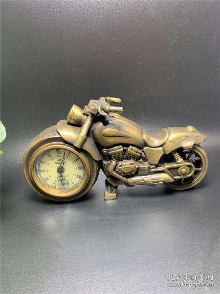All copper motorcycle clocks and decorations