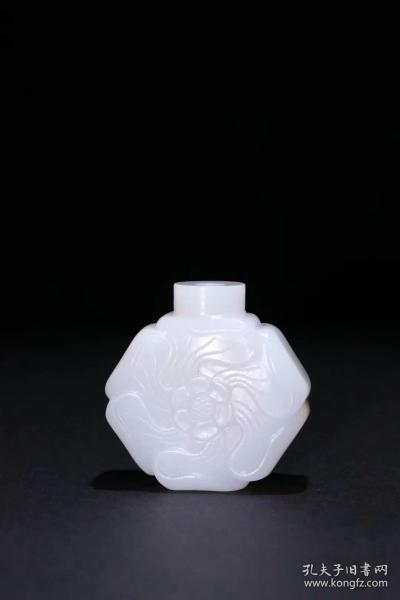 [Hetian jade carving snuff bottle]