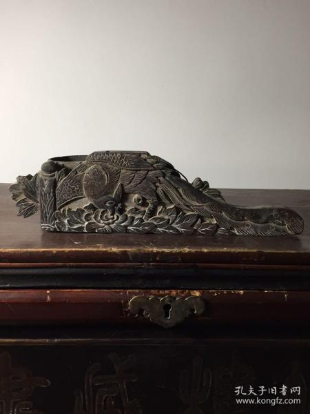 """""""Special Offer"""" exquisite old wood carving, Feng Pei ink fountain"""
