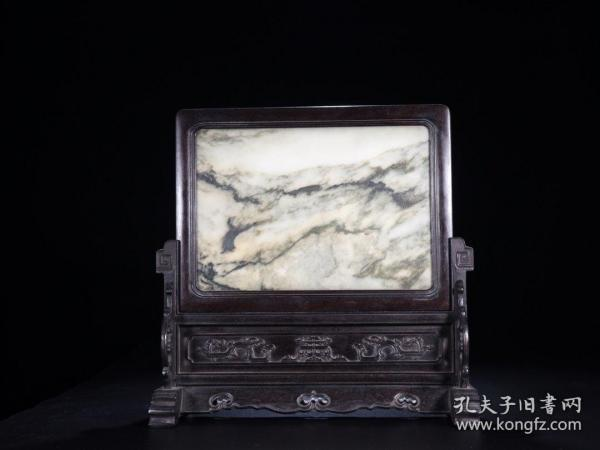 Marble insert screen Size: 39cm high 39 × 15cm wide