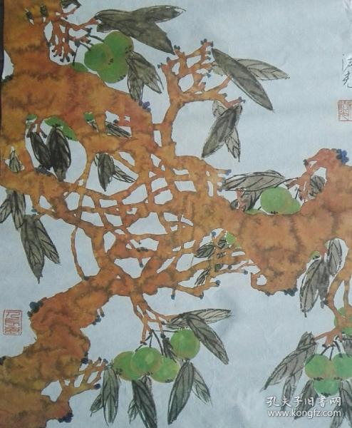 Old collection, Cheng Faguang ink painting works