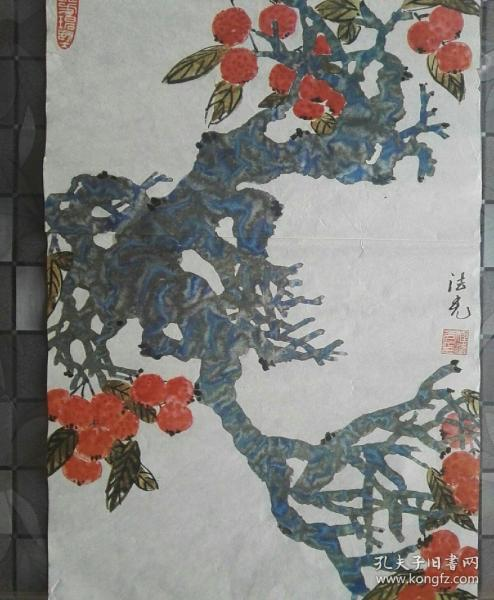 Celebrity calligraphy and painting, Master Cheng Faguang's ink painting works