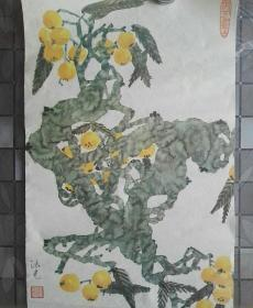 Old woodblock watermark painting, Cheng Faguang ink painting works