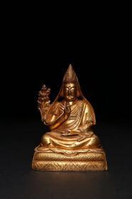 [Bronze gilt statue of Tsongkhapa]
