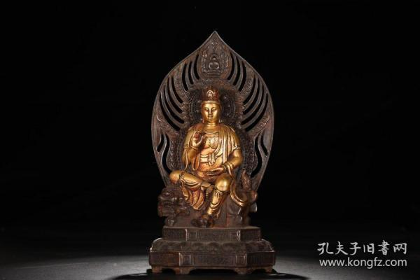 Cast bronze bronze statue of Manjushri Buddha