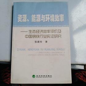 資源、能源與環境效率-生態經濟效率評價及中國鋼鐵行業實證研究