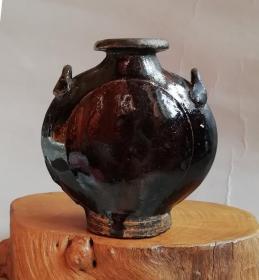Qing dynasty black glaze ceramic jug suitable for small Bogu display