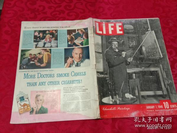 """[Free shipping] 1946 American """"Life"""" magazine LIFE, see picture for details! Big 8 open English original, beautiful pictures!"""