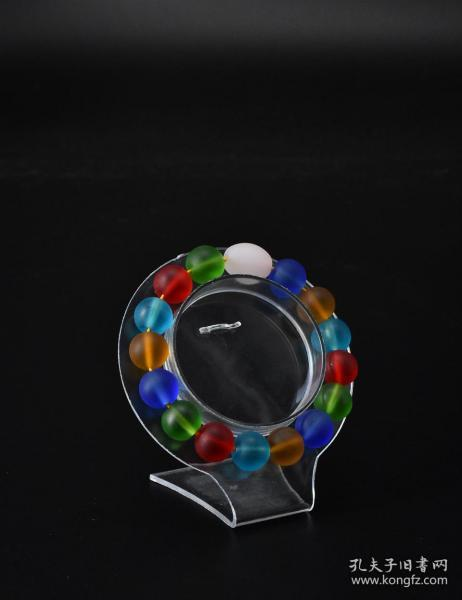 """(V5363) One piece of """"Glass Bracelet"""" circumference: 18cm diameter: 12.2mm, total weight: 36.73 grams. Qi Liuli is hailed as the head of China's top five masterpieces and one of the seven treasures of the Buddhist family."""