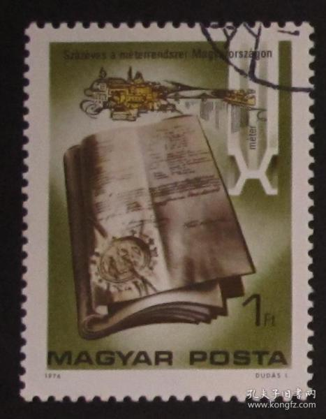 Hungary Stamps ---- 100th Anniversary of International Standard Length (Cancellation)
