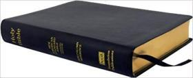 NASB Side-Column Reference Wide Margin Bible; Black Leathertex(再生皮革)