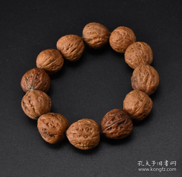 "(Vd1278) 1 piece of ""Autumn Walnut Bracelet"" 11 pieces Bracelet circumference: 16cm Single bead size: 19 * 19 * 18mm."