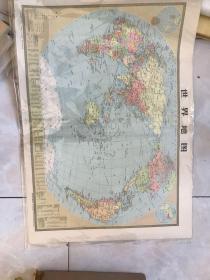 World map, 1974