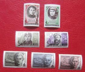 [Soviet stamps Heroes in the Patriotic War 3 sets 7 brand new] Brand new ten