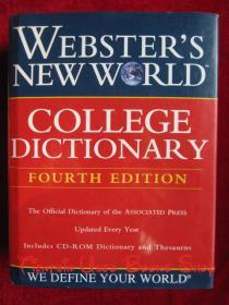 Webster's New World College Dictionary(Fourth Edition, Thumb-Indexed, Book with CD-ROM)韦伯斯特新世界大学词典(第四版 拇指索引 随书附光盘 美国英语原版 精装本)