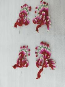 In the late Qing Dynasty and the Republic of China, the lady wore a set of 4 velvet crowns, perfect in appearance, 15 * 9