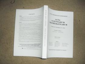ACTA SCIENTIARUM MATHEMATICARUM(Volume 84,Numbers 1-2,3-4,2018)【英文版】【2本合售】