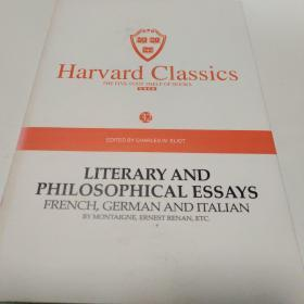 Harvard classics(32)LITERARY AND PHILOSOPHICAL ESSAYS FERNCH ,GERMAN AND ITALIAN BY MONTAIGEN ,ERNEST  RENAN,ETC