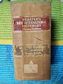 Websters New International  Dictionary   2nd  edition