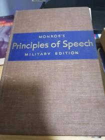 monroes  principles of speech  military edtion 美军旧藏