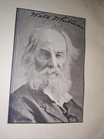 1886年草叶集 Leaves of grass: The poems of Walt Whitman (The Canterbury poets)  精装小本