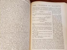 THE TRAGEDIE OF MACBETH. A New Edition of Shakspere's Works with Critical Text in Elizabethan English and Brief Notes Illustrative of Elizabethan Life, Thought and Idiom.