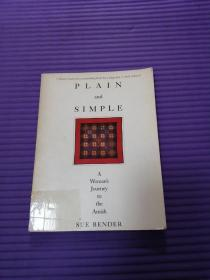 外文原版《PLAIN AND SIMPLE 》