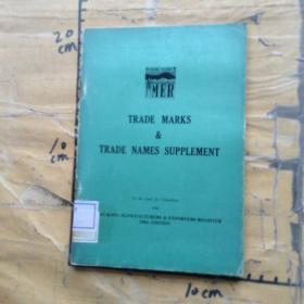 TRADE MARKS & TRADE NAMES SUPPLEMENT