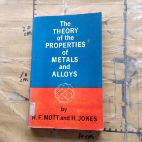 THE THEORY OF THE PROPERTIES OF METALS AND ALLOYS