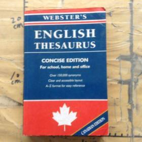 Websters English Thesaurus: Concise Edition