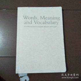 Words ,Meaning and vocabulary AN INTRODUCTION TO MODERN ENGLISH LEXICOLOGY 复印本