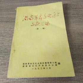 湖南革命文化历史文献汇编(第一辑)