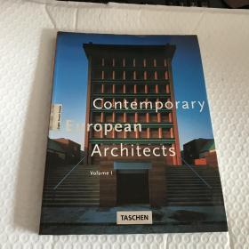 Contemporary European Architects: Vol.1 英文英语原版
