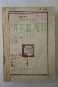 ZD:民國原版紅色文獻  恩格斯著 何錫麟譯作《資本論提綱》一冊全 東北書店1949年初版 32開平裝