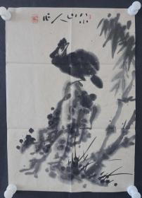 ●d15  著名畫家、花鳥師承李苦禪大師、中國美術家協會北京分會會員—錢衛國  花鳥國畫作品一幅 ,紙本軟片,尺寸約47*33厘米!