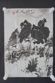●d21  著名畫家、花鳥師承李苦禪大師、中國美術家協會北京分會會員—錢衛國  花鳥國畫作品一幅 ,紙本軟片,尺寸約44*32厘米!