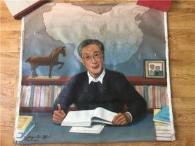旅美畫家劉建一繪制恩師吳傳鈞院士畫像,尺幅超過一米