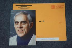 "110c11 世界著名理論物理學家、猶太裔杰出粒子物理學家、量子場論中最優美的結果-三角反常的發現者、奠定了基礎粒子物理模型的基礎、美國國家科學院院士、美國藝術與科學院院士、美國科學促進會會士、國際狄拉克獎章獲得者——史蒂文·阿德勒(Stephen L. Adler)親筆簽名、官方精美大照片1張 附贈實寄封(照片正反兩處親筆簽名、簽贈友人、題詞 ""With best wishes"")"