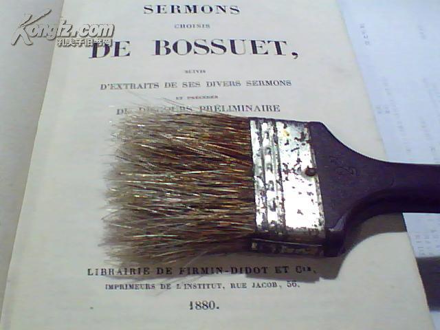 1880年出版:SERMONS CHOISIS DE BOSSUET(包胥埃讲道选集  法文原版)